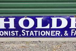 Holder Tobacconist Enamel Advertising Sign