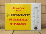 Dunlop Tyres Enamel Advertising  Thermometer.#