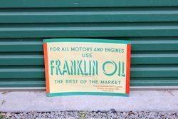 Franklin Motor Oils Tin Advertising Sign.#