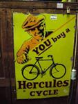 Hercules Cycle Pictorial Enamel Sign