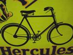 HERCULES CYCLE PICTORIAL ENAMEL SIGN           SA166