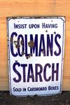Colmans Starch Enamel Advertising Sign.#