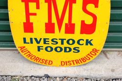 FMS Farming Feed Tin Advertising Sign