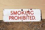 Smoking Prohibited Enamel Sign.#