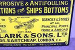 Clarkes Compositions Pictorial Enamel Sign
