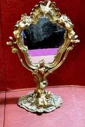 Rare 19th Century Gilt Bronze Swing Mirror