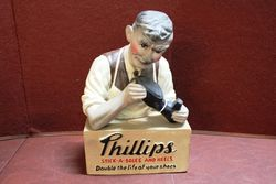 Phillips Soles And Shoes Rubberoid Advertising Statue #