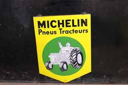 Michelin Tractor Shield Enamel Sign.#