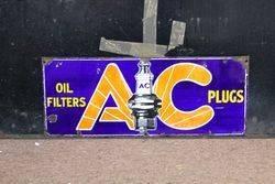 AC Spark Plugs Enamel Sign.#