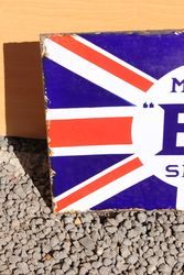 BP Union Jack Enamel Post Mount Sign