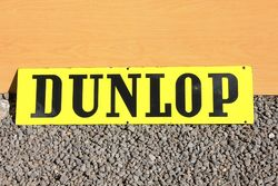 Dunlop Double Sided Enamel Sign,#