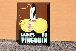 CFA Pictorial Penguin Wool Enamel Sign.#