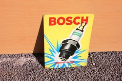 Bosch Pictorial Spark Plug Tin Advertising Sign.#