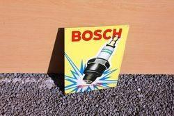 Bosch Pictorial Spark Plug Tin Advertising Sign.#