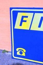 Fiat Tin Advertising Sign