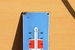 Fina Enamel Advertising Thermometer