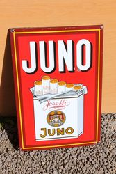 Juno Pictorial Enamel Advertising Sign.#
