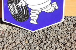 Michelin Enamel Advertising Shield Sign