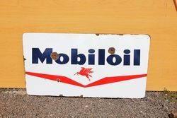 Mobiloil Enamel Advertising Sign.#