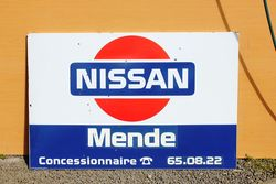 Nissan Enamel Advertising Sign