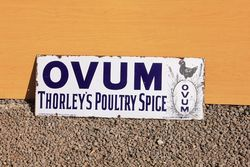 Ovum Thorleys Enamel Advertising Sign
