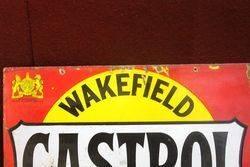 Castrol Wakefield Bowtie Enamel Post Mount Sign