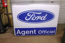 Ford Agent Double Sided Advertising Light Box#
