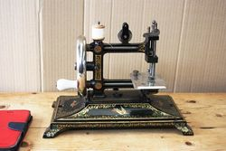 Bremner + Bruckmann Antique Cast Iron Sewing Machine.#