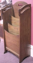 Art Deco Oak Magazine Rack.#