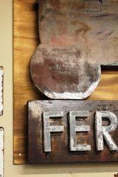 A Rare Ferguson System Metal Sign