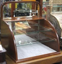Glass Shelved Mirror-back Display Cabinet