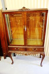 1950s Mahogany 2 Door Display Cabinet.#