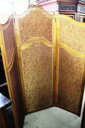 Antique Walnut 3 Fold Screen.#