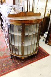 Early 20th Century Half Round Mahogany Display Cabinet.#