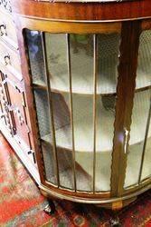 Early 20th Century Half Round Mahogany display Cabinet