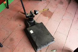 Antique Set Of Cast Platform Scales.#