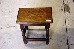 Early C20th Oak Stool - Table.#