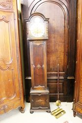 Early C20th Brass Face Longcase Clock.#