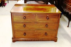 A Quality Victorian Mahogany 4 Drawer Chest.#