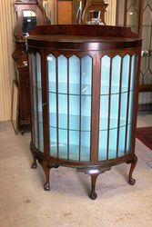 Mahogany Half Round Display Cabinet.#