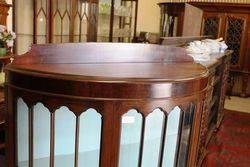 Mahogany Half Round Display Cabinet