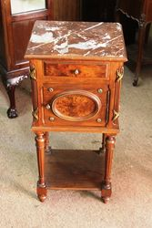 Late C19th Marble Topped Bedside Cabinet.#