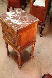 Marble Topped Pot Cupboard