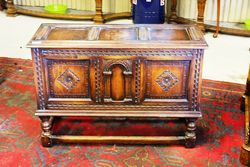 Early C20th Oak Coffer on Stand.#