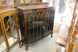 Quality 2 Door Mahogany Display Cabinet English C1920