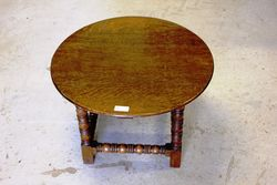 C20th Oak Round Occasional Table.#