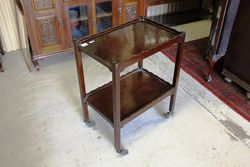 Early C20th Mahogany Tea Trolley.#