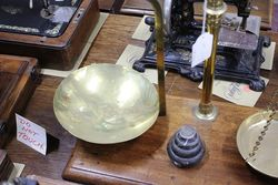 Victorian Brass Balance Scales On Mahogany Base