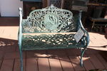 Cast Iron 2 Seater Cameo Bench