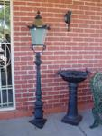 Small Cast Iron Tudor Garden Lamp